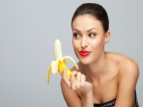 hot Girl with banana knuckle dragger magazine