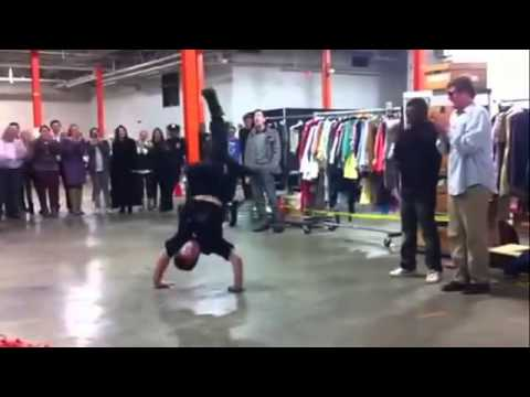 NYPD Cop Assaults The Floor In An Epic Breakdance Challenge