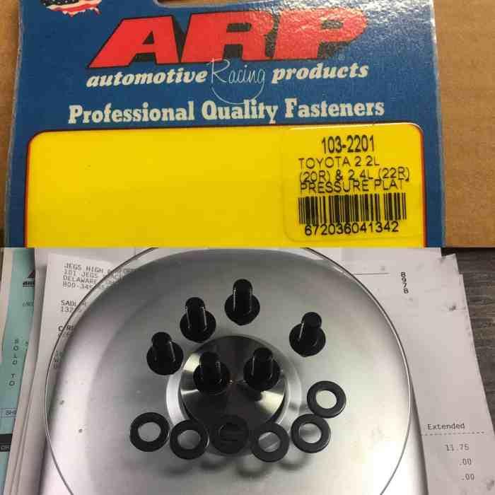 arp pressure plate bolts