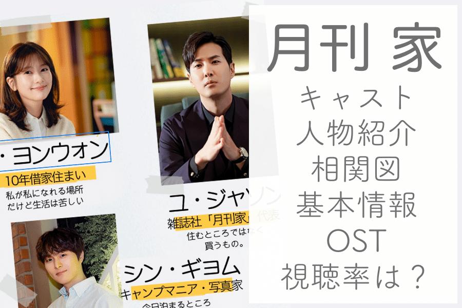 月刊家キャスト・人物紹介、相関図
