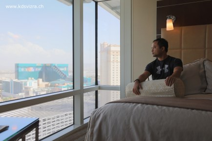 Bergambar di bilik hotel Aria Las Vegas