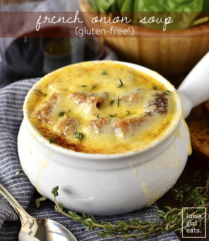 French Onion Soup that's soooo yummy! And it's gluten-free!