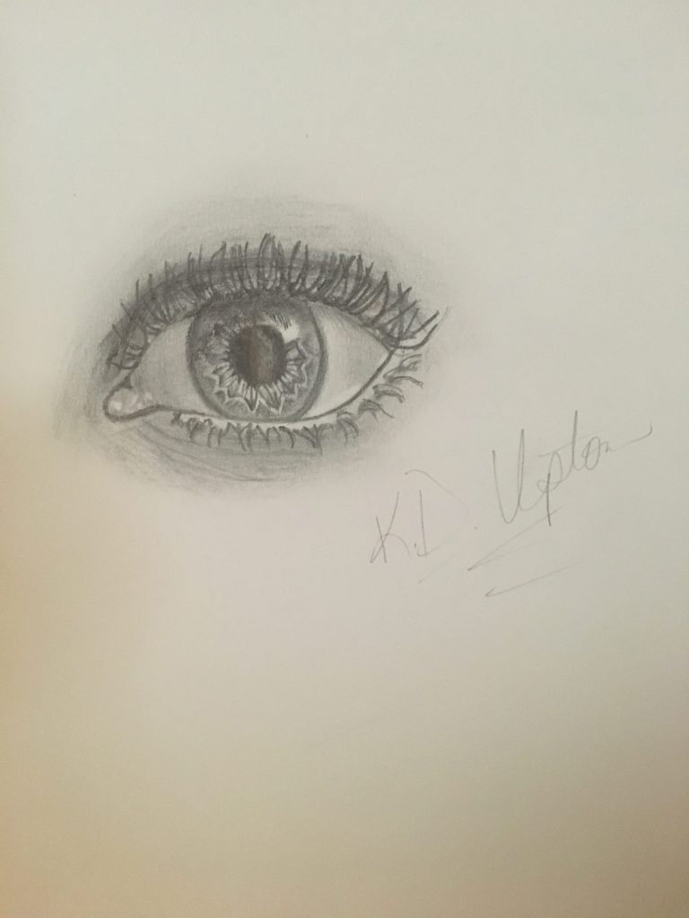 First attempt at drawing an eye for this inaugural Author Artwork post.