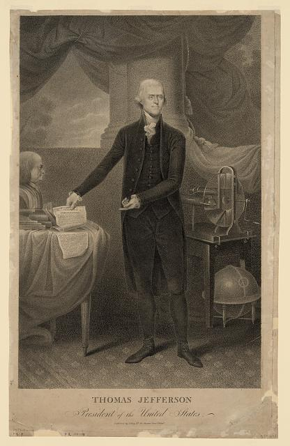 Thomas Jefferson, the third President of the U.S help decide where the U.S. capital would be over dinner and drinks.