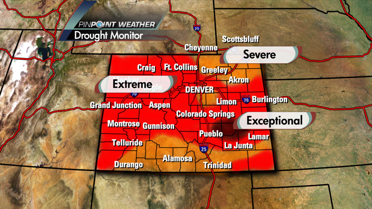 Drought monitor for Colorado. July 19, 2012
