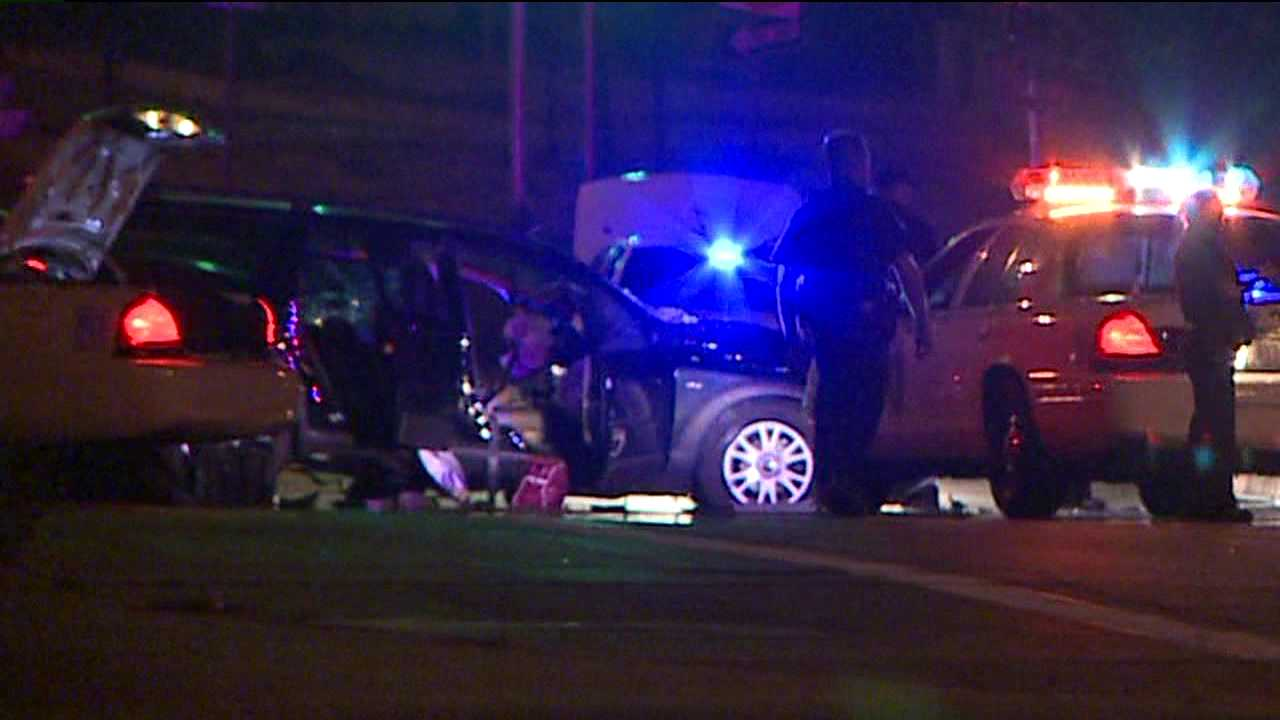 Crash shuts down University Blvd. at I-25 in Denver. Aug. 9, 2012
