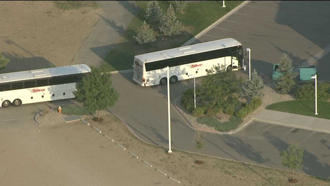 Loveland bomb threat aboard tour bus, Aug. 8, 2012.