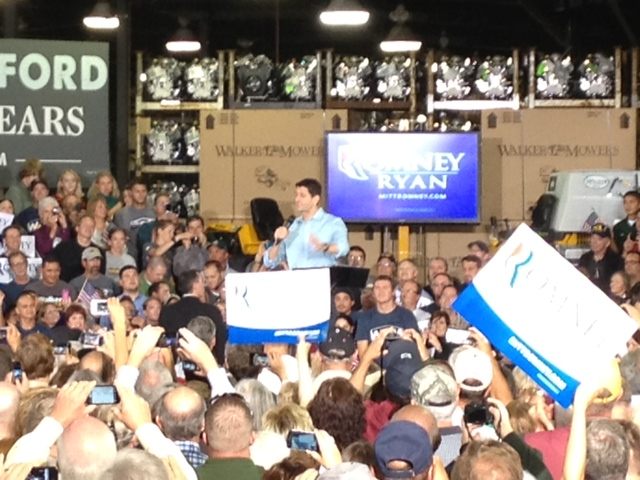 Paul Ryan speaks at a campaign stop in Larimer County on Sept. 26, 2012.