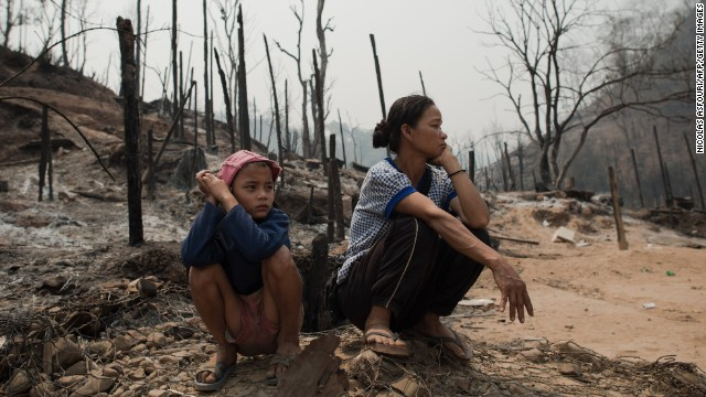 More than 100 people were injured in the fire, which destroyed about 400 homes at the Mae Surin camp (CNN)