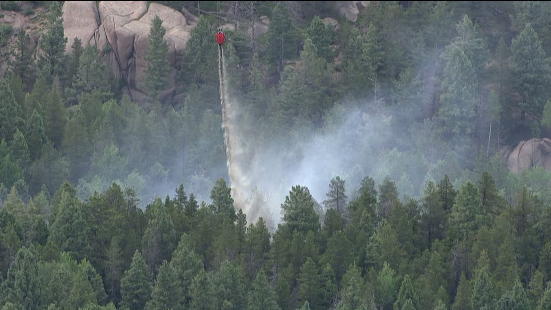 A helicopter helped put out a small wildfire in Douglas County