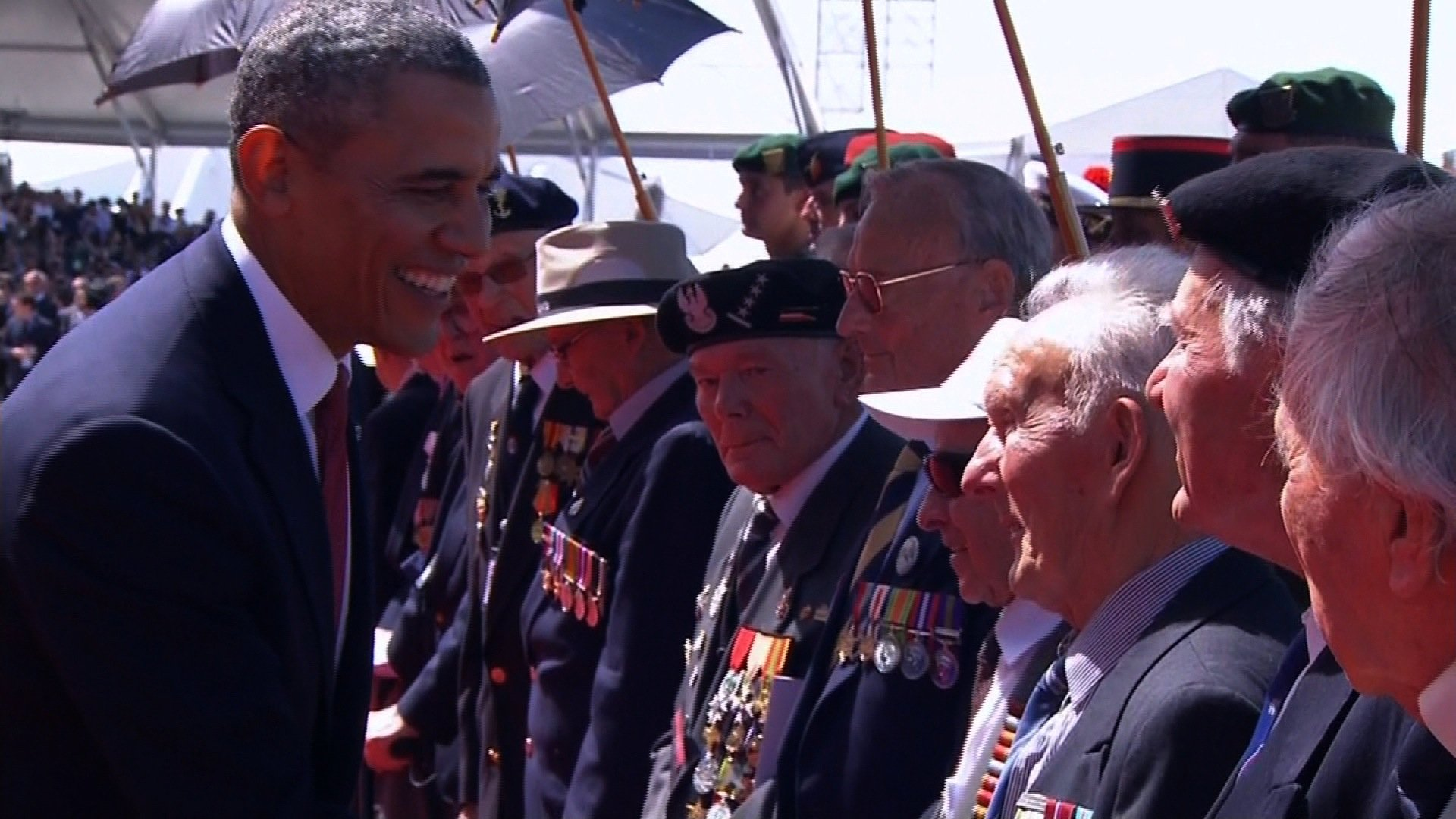World leaders, veterans and spectators gather to commemorate the 70th Anniversary of D-Day