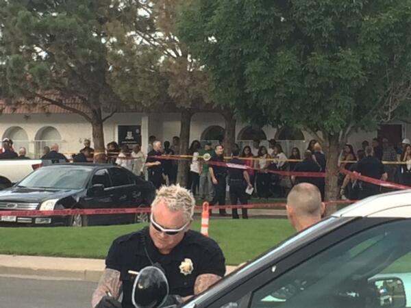 Police shoot suspect outside funeral home