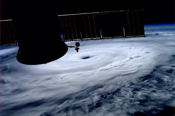 Hurricane Arthur from the International Space Station. July 3, 2014. Photo: NASA
