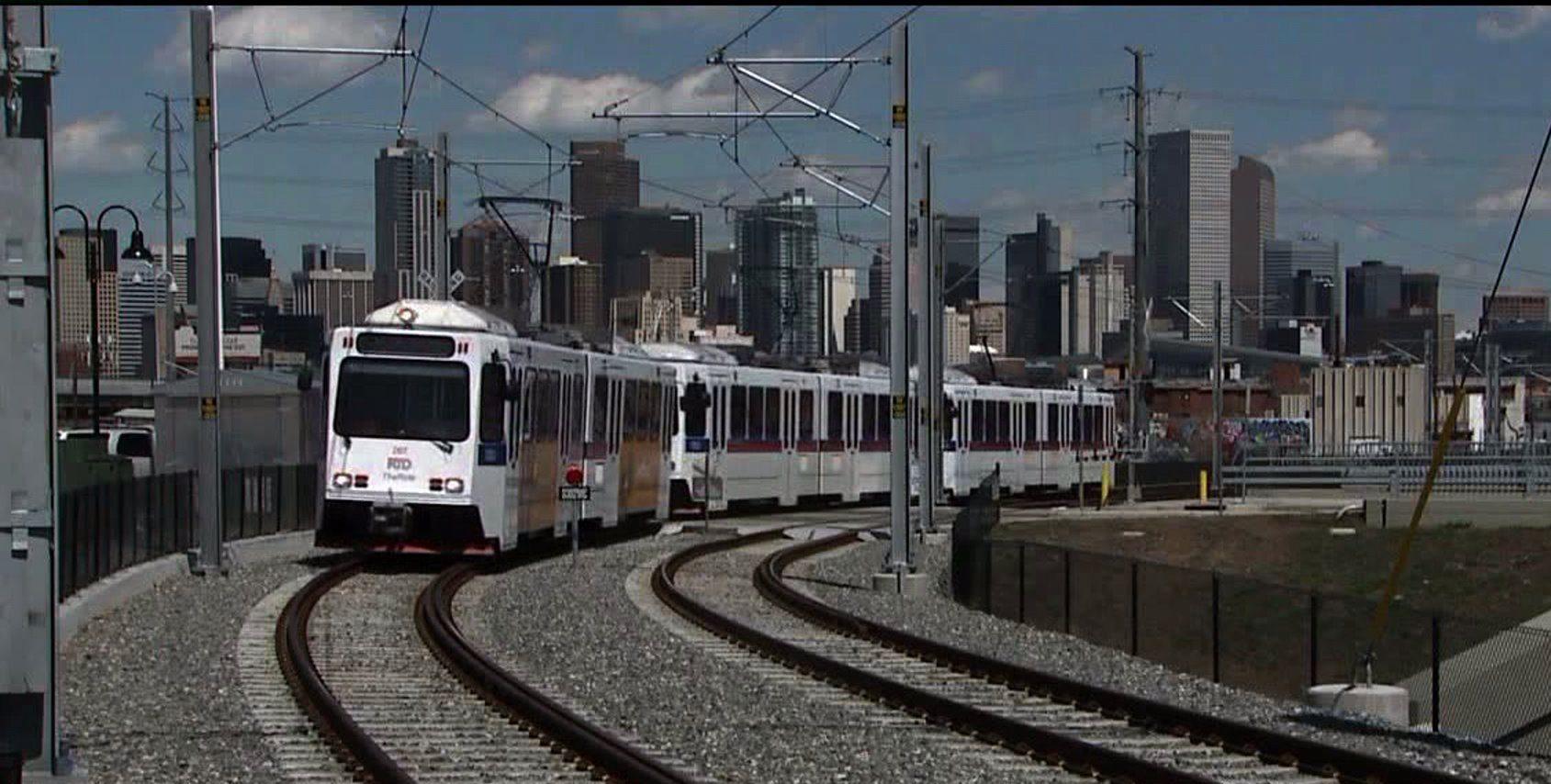 RTD light rail train in Denver