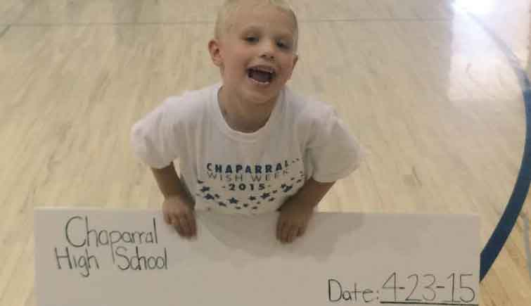 Corbin is going to Jedi Training Academy thanks to Make-A-Wish and Chaparral High School students