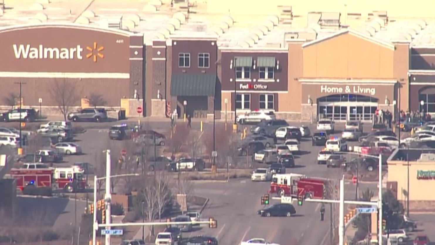 Police activity at Walmart in Broomfield, Colo. on Feb. 18, 2020.