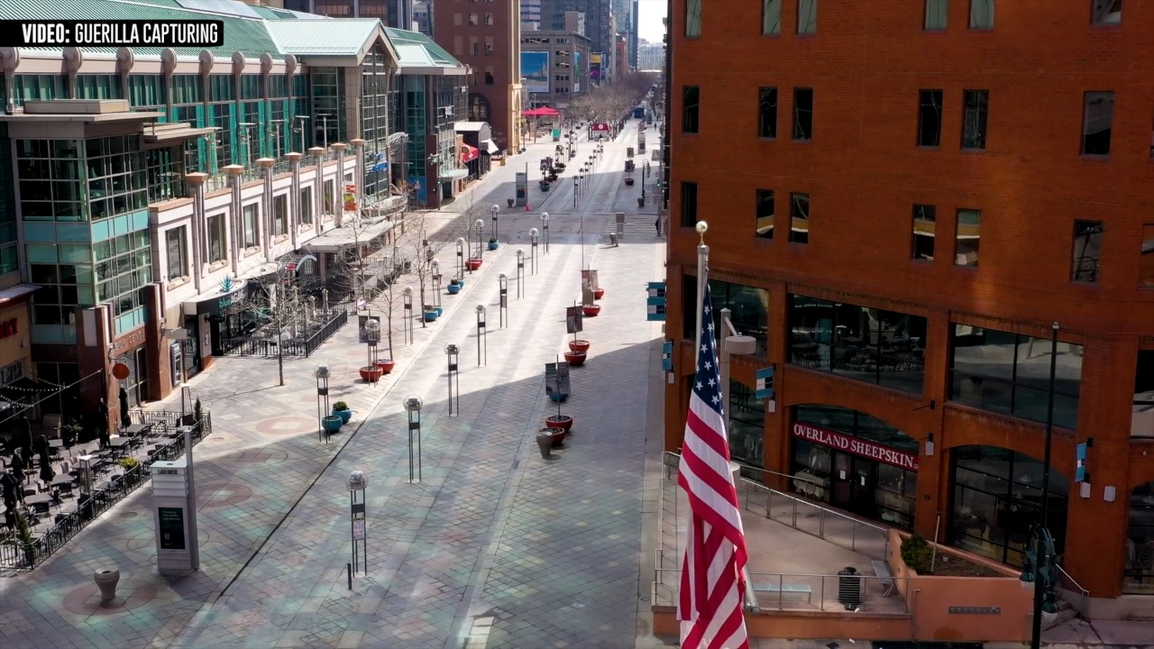 A desolate downtown Denver (Photo courtesy of Blake Rubenstein)