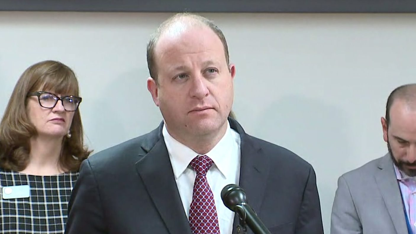 Gov. Jared Polis hold a news conference on March 5, 2020 announcing two coronavirus cases in Colorado.