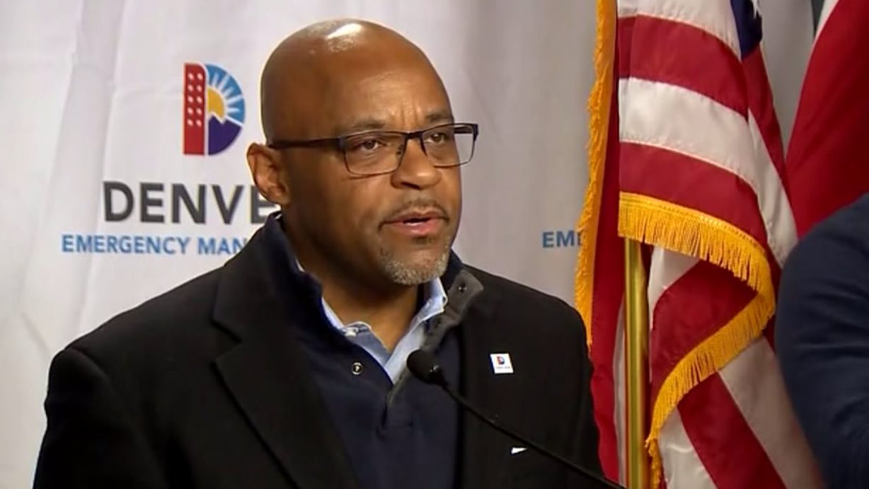 Denver Mayor Michael Hancock at a news conference about COVID-19 on April 13, 2020.