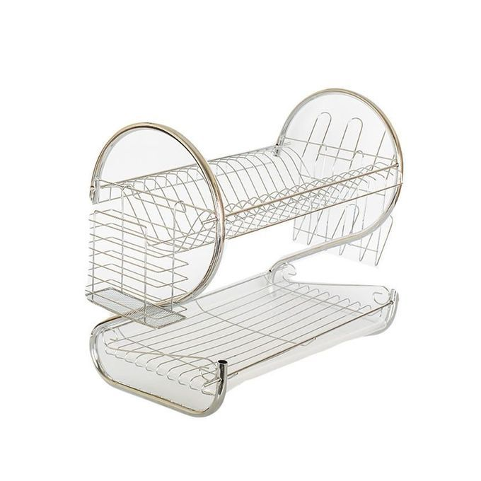 Generic 2 Tier Chrome Plated Dish Rack Sliver Buy