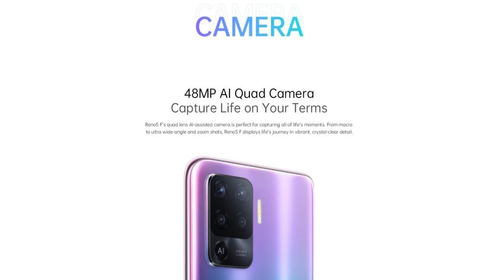 Oppo Reno 5 F -  Cameras