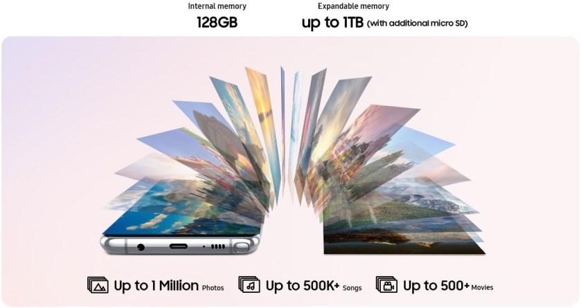 Samsung Galaxy Note10 Lite - Storage