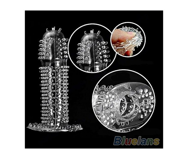 New Hot Reusable Full Cover Penis Sleeve Ring Delay Impotence Erection Condoms For Sex Adult Men