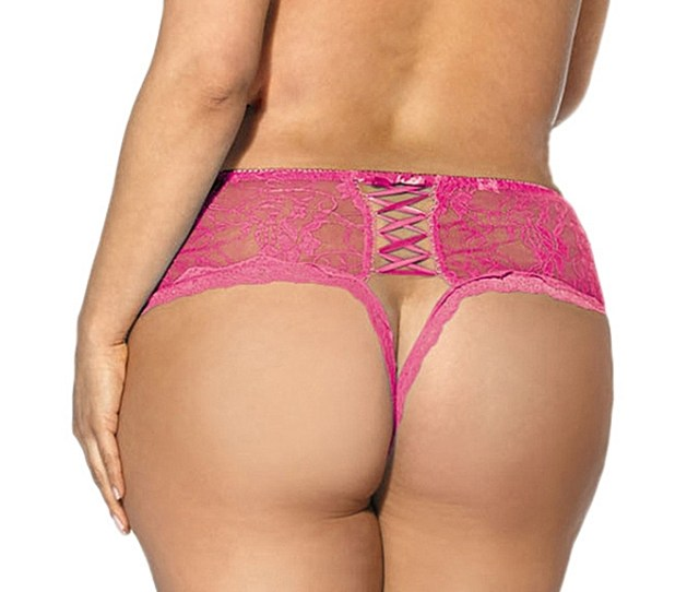 Women Bandage Open Crotch Crotchless Panties Thong V String Lingerie Underwear