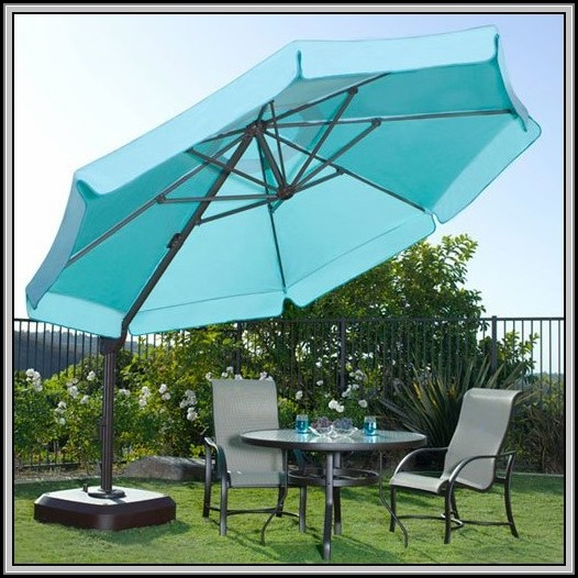 11 Foot Patio Umbrella With Lights