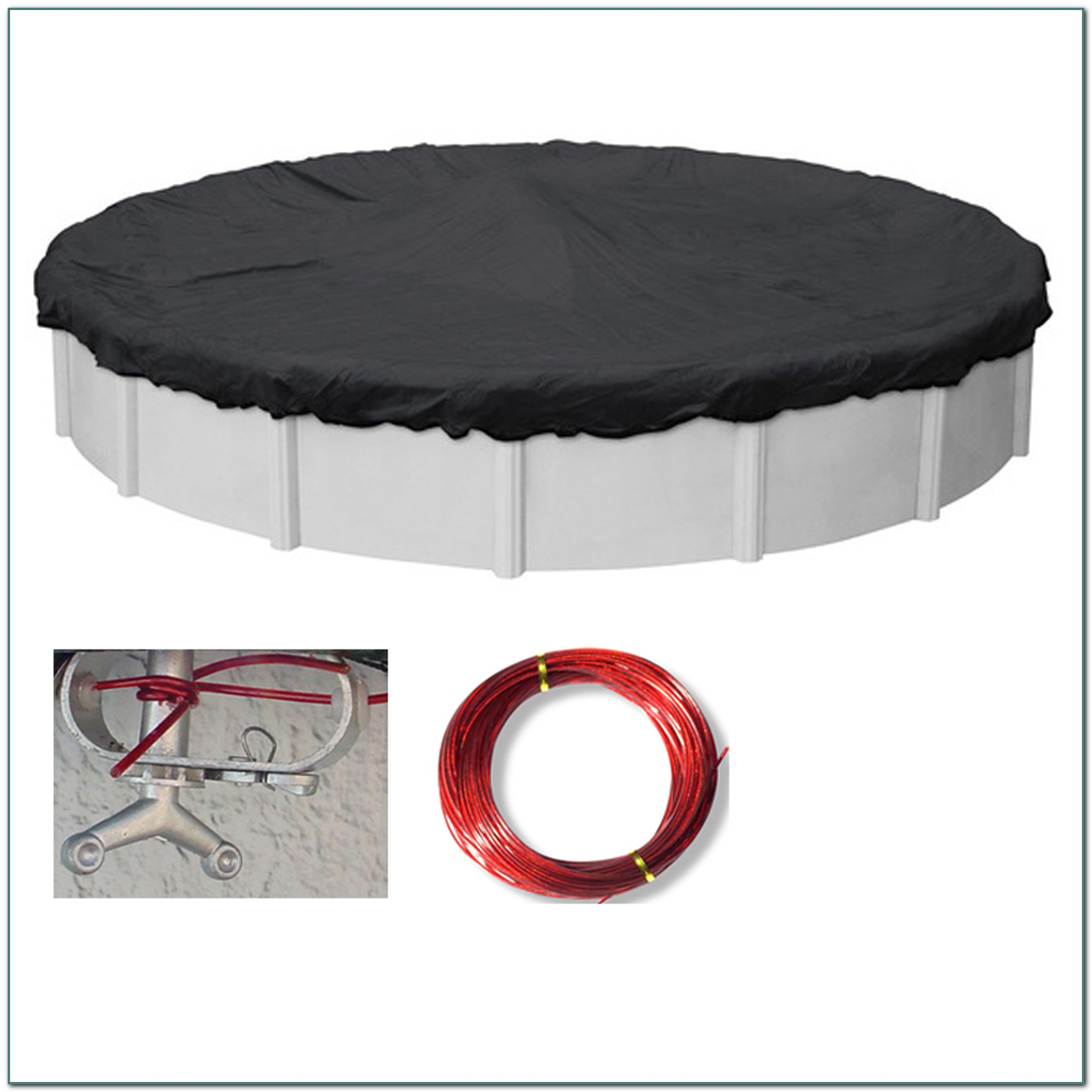 24 Above Ground Pool Mesh Cover