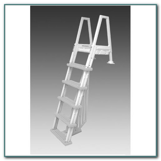 Above Ground Deck To Pool Adjustable Ladder