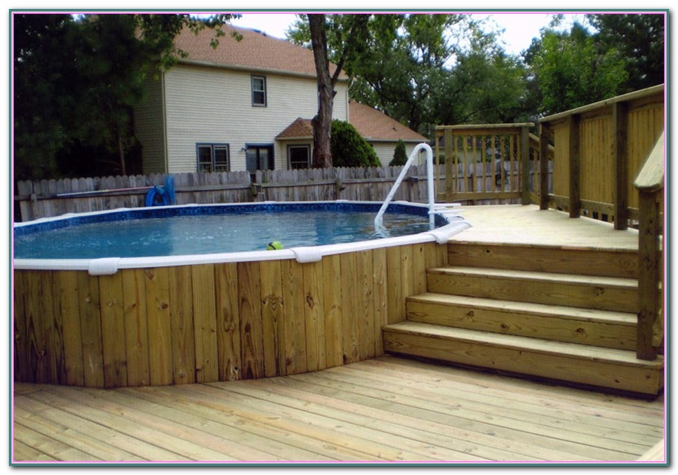 Above Ground Pool Decks Attached To House