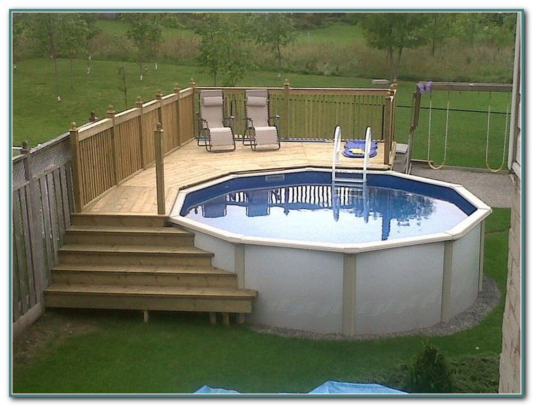 Above Ground Pool Decks Designs