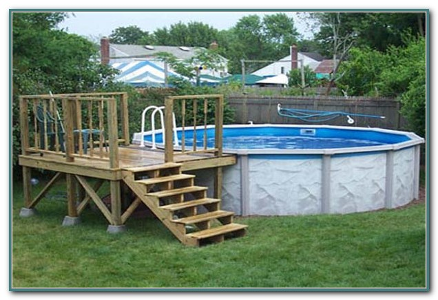 Above Ground Pool Decks Plans Free