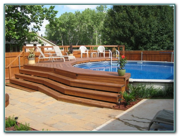 Above Ground Pools Decks Pictures