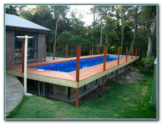 Above Ground Rectangular Pools With Decks