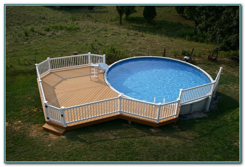 Above Ground Swimming Pool Decks Photos