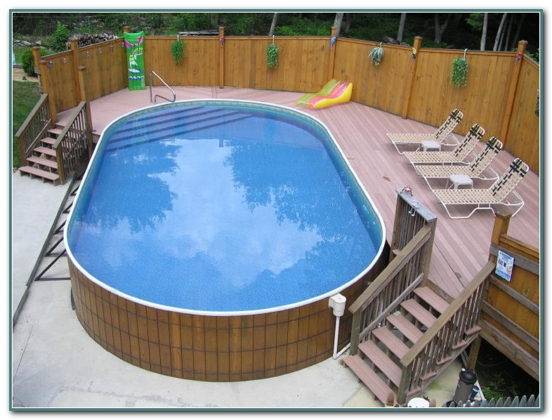 Affordable Above Ground Pool Decks