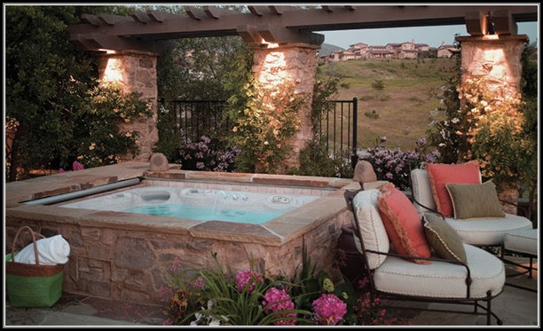 Backyard Patio Ideas With Hot Tub