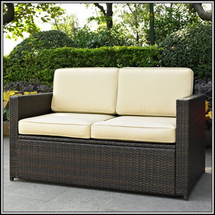 Belvedere Wicker Patio Loveseat