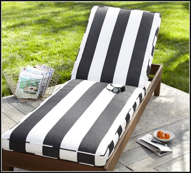 Black And White Outdoor Chaise Cushions