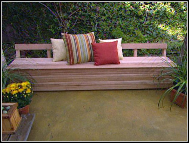 Build Patio Bench Plans
