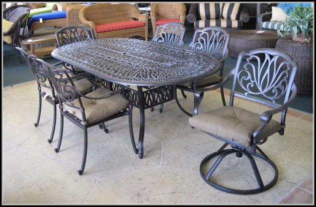 Cast Aluminum 7 Piece Patio Dining Set