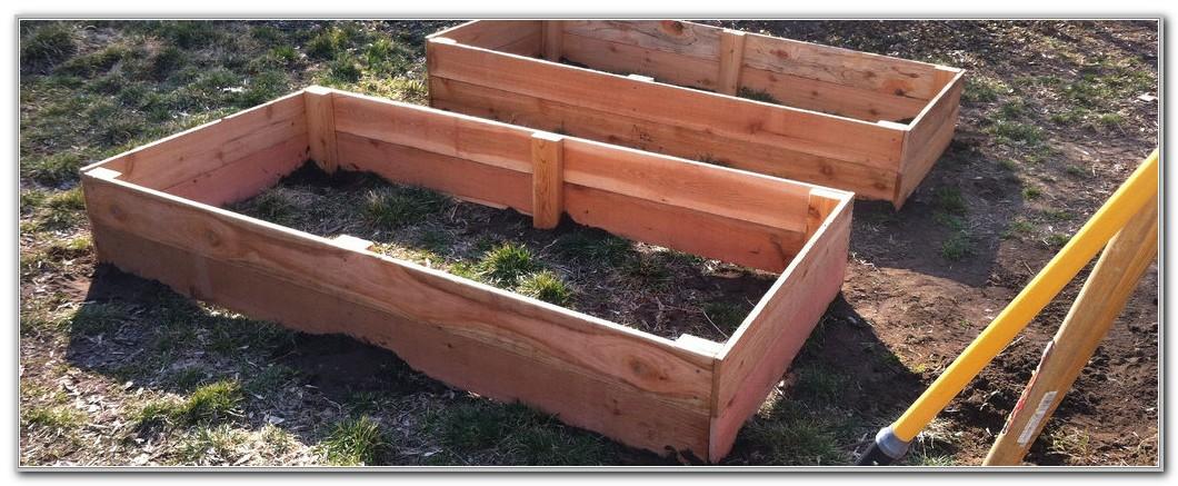 Cedar Raised Garden Beds Plans