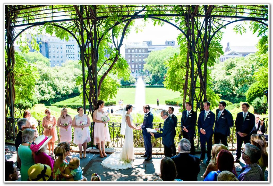 Central Park Conservatory Garden Wedding Pictures