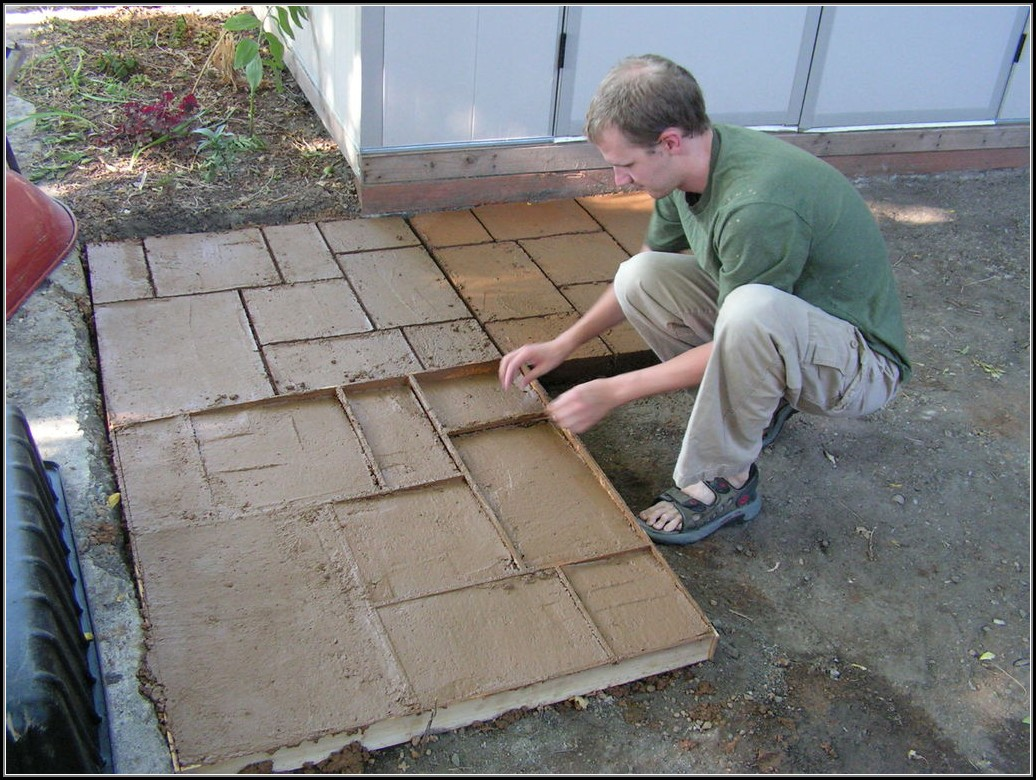 Concrete Patio Molds Diy