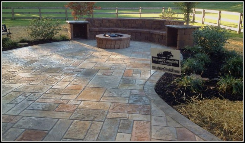 Concrete Stamped Patio Ideas