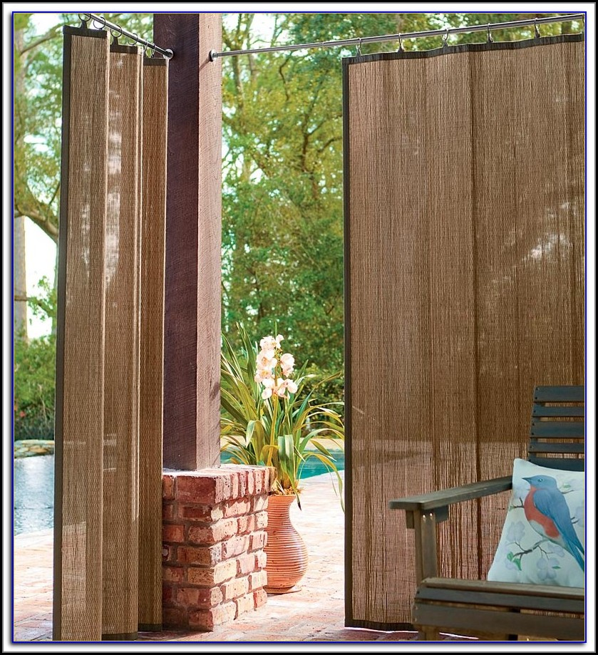 Custom Bamboo Patio Blinds