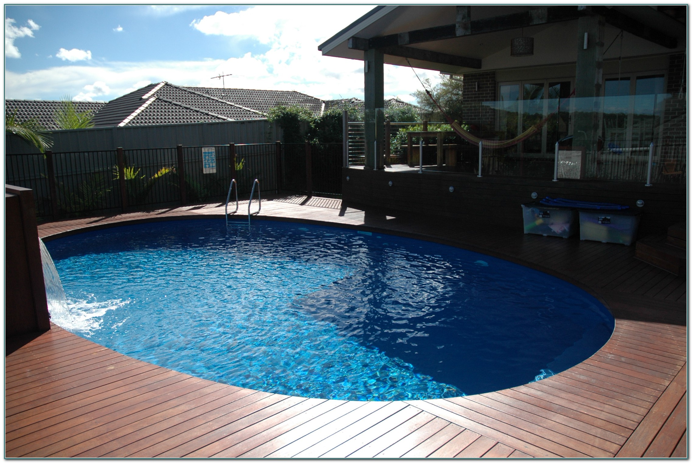 Decks Around Above Ground Pool Ideas