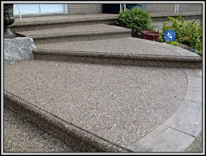 Exposed Aggregate Concrete Patio Ideas